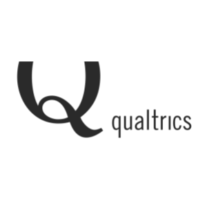 Logo of experience management software company Qualtrics